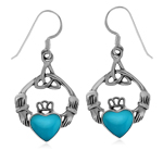 Created Blue Turquoise 925 Sterlin...