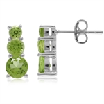 1.96ct. 3-Stone Natural Peridot Wh...