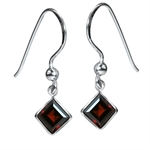2.6ct. Natural January Birthstone Garnet 925 Sterling Silver Dangle Earrings