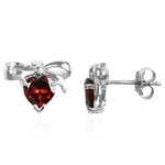 1.7CTW Natural Heart Shape MOZAMBIQUE GARNET GP 925 Sterling Silv...