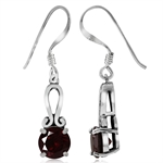 1.9ct. Natural Garnet 925 Sterling Silver Dangle Earrings