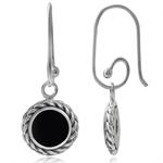 Black Onyx 925 Sterling Silver Rope Interchangeable Earrings