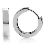 13MM*3MM 925 Sterling Silver Huggie/Hoop Earrings