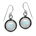 Natural Moonstone White Gold Plate...
