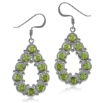 6ct. Natural Peridot White Gold Pl...
