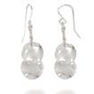 Costume Jewelry Double Disc Dangle Earrings