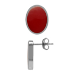 Created Oval 14x10 mm Inlay Red Co...
