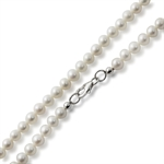 4.5MM Cultured White Pearl 925 Sterling Silver Girl's Necklace - 14 Inch