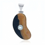 SALE! Mother Of Pearl & Blue Topaz...