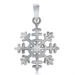 925 Sterling Silver Snowflake Pendant