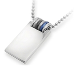 Men's Stainless Steel MODERN Pendant by Inori