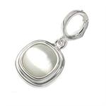 Modern White Cats-eye Sterling Silver Pendant