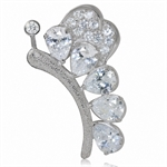 White CZ Gold Plated 925 Sterling ...