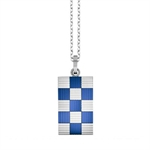 Blue 316L Stainless Steel PVD Pattern Pendant
