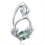 Green Amethyst 925 Sterling Silver Pendant