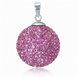 19MM Light Rose Pink Crystal Ball ...
