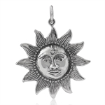 925 Sterling Silver Smiling Sun Face Charm/Pendant