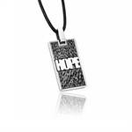Black Stainless Steel HOPE Pendant...