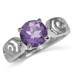 1.76ct. Natural Amethyst 925 Sterl...