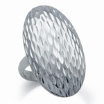 HUGE Textured 925 Sterling Silver Oval Ring