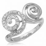Spiral Swirl CZ Gold Plated on 925...