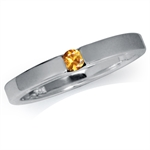 Natural Yellow Sapphire 925 Sterling Silver Solitaire Ring