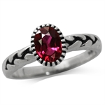1.2ct. Ruby Red Doublet 925 Sterli...