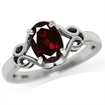 1.4ct. Natural Garnet 925 Sterling Silver Solitaire Ring