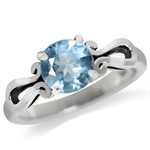 1.61ct. Genuine Blue Topaz 925 Sterling Silver Solitaire Ring