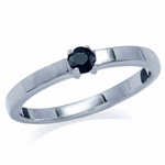 Natural Black Sapphire 925 Sterlin...