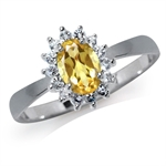 Natural Citrine & White Topaz 925 ...