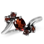 1.33ct. Natural Garnet 925 Sterling Silver Classic Ring