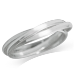 925 Sterling Silver 3-Band Russian Ring