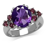 3.76ct. Natural African Amethyst &...