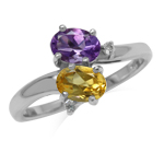 Genuine Amethyst and Citrine 925 S...