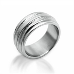 Men's Wire Textured Stainless ...