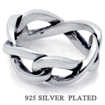 925 Silver Plated ETERNITY KNOT Ring