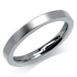 3MM Unisex Stainless Steel Eternity Wedding Band Ring by Inori