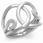925 Sterling Silver RIBBON KNOT Ring