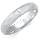 4MM White Diamond 925 Sterling Silver Wedding Bands Ring