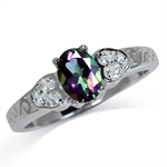 Mystic Fire Topaz White Gold Plate...