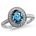 1.43ct. Genuine London Blue & Whit...