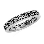 3MM 925 Sterling Silver Filigree Stack/Stackable Ring