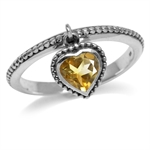 Dangle Natural Heart Shape Citrine...