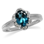 1.4ct. Genuine London Blue Topaz W...