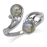 Labradorite White Gold Plated 925 ...