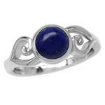 7MM Genuine Round Shape Blue Lapis...