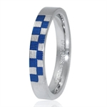 4MM Wide Blue Pattern Stainless St...