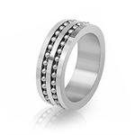Men's Stainless Steel Balinese Band Ring