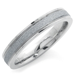 4MM Men Stainless Steel Sandblasted Eternity Band Ring